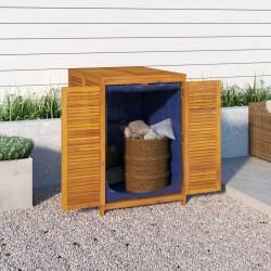 vidaXL Set funda de edredón diseño floral azul marino 200x220/80x80 cm
