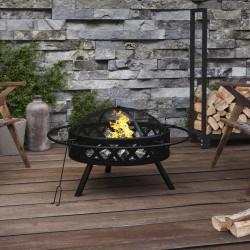 vidaXL Set funda edredón estampado floral azul marino 140x220/60x70 cm