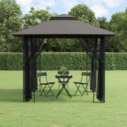 vidaXL Set funda de edredón diseño floral blanco 155x220/80x80 cm