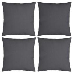vidaXL Silla de camping plegable de 2 plazas acero y tela gris