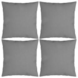 vidaXL Silla de camping plegable de 2 plazas acero y tela gris taupe