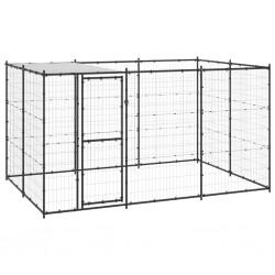vidaXL Banco columpio madera maciza de teca con cojín gris 170 cm