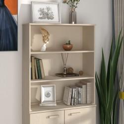 vidaXL Cancela de 5 barras para campo acero plateado (95-170)x90 cm