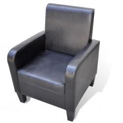 vidaXL Cancela de valla con una puerta y puntas acero negro 1x1,2 m