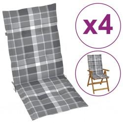 vidaXL Reloj de pared de metal plateado 40 cm
