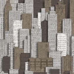 vidaXL Rollos de papel pintado 4 uds ladrillos gris oscuro 0,53x10 m