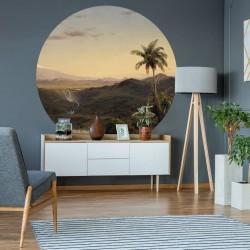 vidaXL Rollos de papel pintado 2 unidades rosa brillante liso 0,53x10m