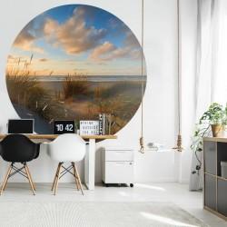 vidaXL Lavabo de piedra natural ovalado 38-45 cm