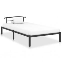 vidaXL Cubos de basura apilables 4 piezas gris antracita 100 L