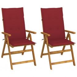 vidaXL Silla de escritorio reclinable Racing con reposapiés roja