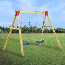 Tander Azulejo mosaico autoadhesivo 22 uds vidrio gris y azul 30x30 cm