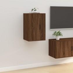 vidaXL Vitrina baja con dos puertas y un cajón de madera blanca