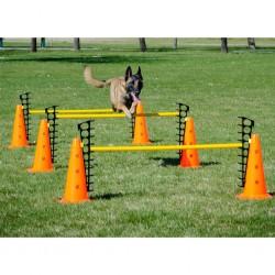 vidaXL Guantes de trabajo de nitrilo 24 pares gris y negro talla 8/M