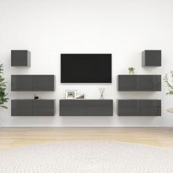 vidaXl Armario modular 18 compartimentos blanco 37x146x180,5cm