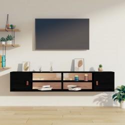 Banco baúl de madera y cojin gris, con cajones