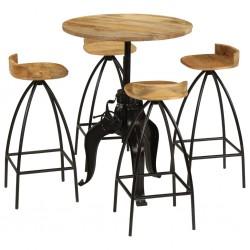 vidaXL Sillón con patas cromadas y cuero artificial marrón