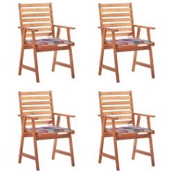 vidaXL Sillón de masaje reclinable cuero sintético blanco