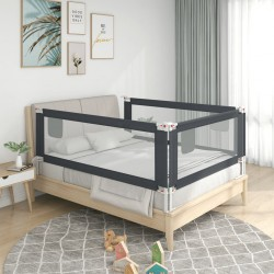 vidaXL Barandilla de seguridad cama de niño poliéster taupe 120x42 cm