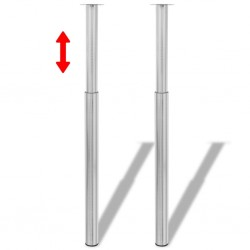 vidaXL Lámpara de techo 2 uds altura ajustable semiesférica negra
