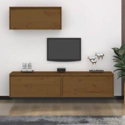vidaXL Escritorio de madera reciclada con patas de hierro