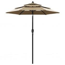 2 manteles blancos de 60 cm con lazo