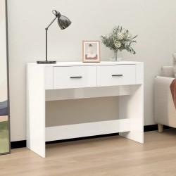vidaXL Mesa de salón comedor rectangular de MDF blanca