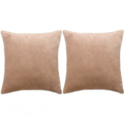 vidaXL Funda para silla elástica recta 6 unidades marrón