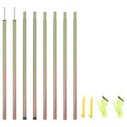 vidaXL Barandilla de seguridad cama de niño poliéster gris 120x42 cm