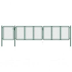vidaXL Funda para silla elástica recta 4 unidades marrón