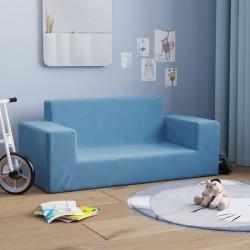 vidaXL Colchón de espuma plegable azul 190x70x9 cm