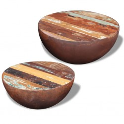 vidaXL Mesa consola con 3 cajones de madera de teca reciclada