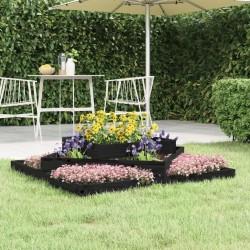 vidaXL Set de 3 mesitas apilables de madera maciza reciclada