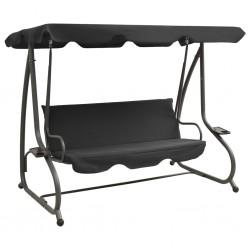vidaXL Sillón reclinable con 3 plazas de cuero artificial blanco