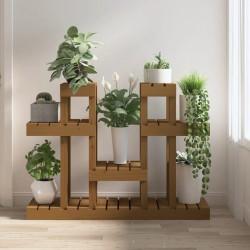 Lámpara de pie ajustable de madera tipo trípode con pantalla gris