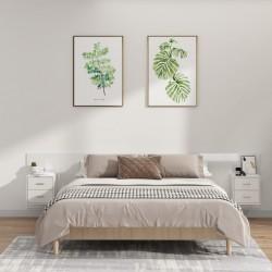 Paragüero cuadrado blanco de acero, 48.5 cm, guarda bastones