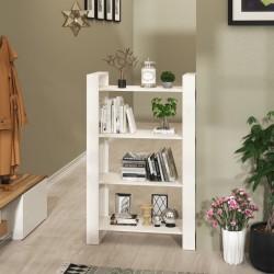 vidaXL Aparador de estilo chino de madera maciza blanco