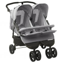 vidaXL Trona de bebé rosa y blanco