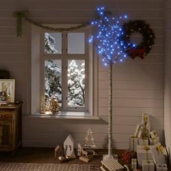 vidaXL Aparador para TV blanco con brillo 120x40,3x34,7 cm